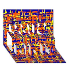 Orange, Blue And Yellow Pattern You Did It 3d Greeting Card (7x5)