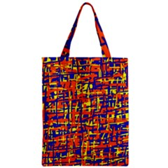 Orange, blue and yellow pattern Classic Tote Bag