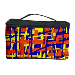 Orange, blue and yellow pattern Cosmetic Storage Case