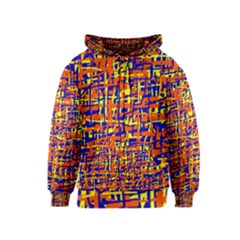 Orange, blue and yellow pattern Kids  Zipper Hoodie