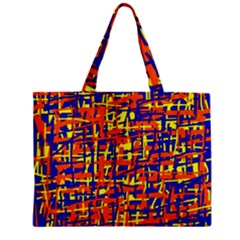 Orange, blue and yellow pattern Zipper Mini Tote Bag