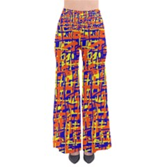 Orange, Blue And Yellow Pattern Pants