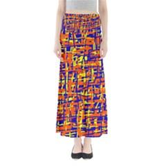Orange, blue and yellow pattern Maxi Skirts