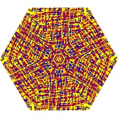 Red, yellow and blue pattern Mini Folding Umbrellas
