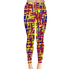 Red, yellow and blue pattern Leggings