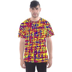 Red, yellow and blue pattern Men s Sport Mesh Tee