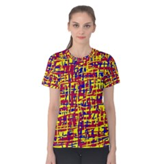 Red, yellow and blue pattern Women s Cotton Tee
