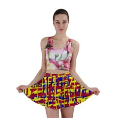 Red, yellow and blue pattern Mini Skirt