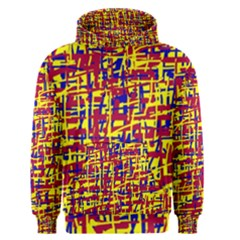 Red, yellow and blue pattern Men s Pullover Hoodie