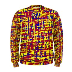 Red, yellow and blue pattern Men s Sweatshirt