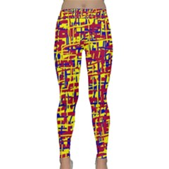 Red, yellow and blue pattern Yoga Leggings