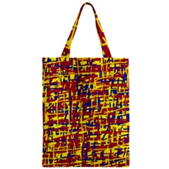 Red, yellow and blue pattern Zipper Classic Tote Bag