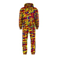 Red, yellow and blue pattern Hooded Jumpsuit (Kids)