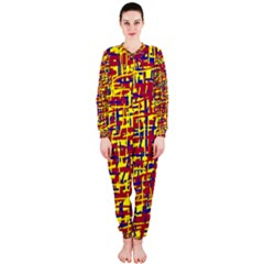 Red, yellow and blue pattern OnePiece Jumpsuit (Ladies)