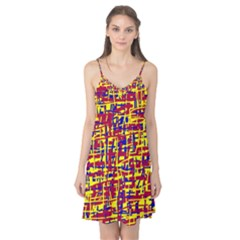 Red, yellow and blue pattern Camis Nightgown