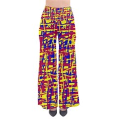 Red, Yellow And Blue Pattern Pants