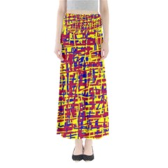 Red, yellow and blue pattern Maxi Skirts