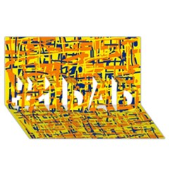 Yellow, orange and blue pattern #1 DAD 3D Greeting Card (8x4)