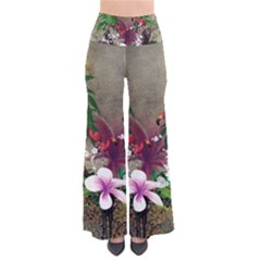 Wonderful Tropical Design With Palm And Flamingo Pants