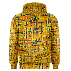 Yellow, orange and blue pattern Men s Pullover Hoodie