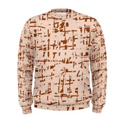 Brown elegant pattern Men s Sweatshirt