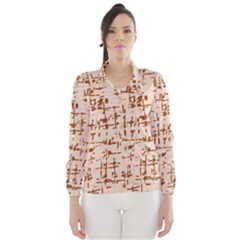 Brown elegant pattern Wind Breaker (Women)