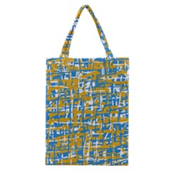 Blue and yellow elegant pattern Classic Tote Bag