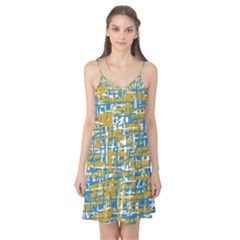 Blue and yellow elegant pattern Camis Nightgown