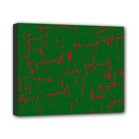 Green and red pattern Canvas 10  x 8