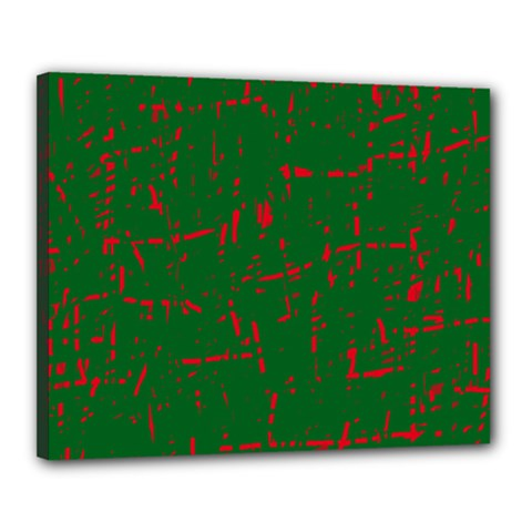 Green and red pattern Canvas 20  x 16