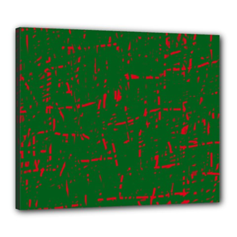 Green and red pattern Canvas 24  x 20