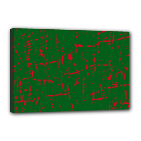 Green and red pattern Canvas 18  x 12