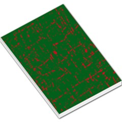 Green and red pattern Large Memo Pads