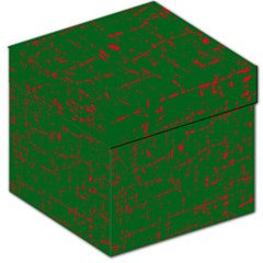 Green and red pattern Storage Stool 12