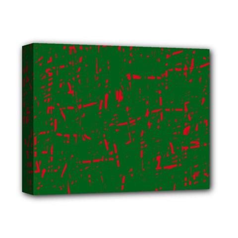 Green and red pattern Deluxe Canvas 14  x 11
