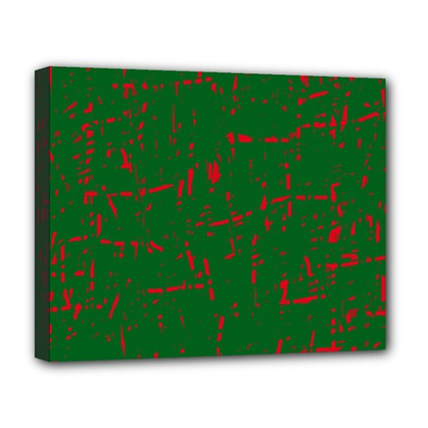 Green and red pattern Deluxe Canvas 20  x 16