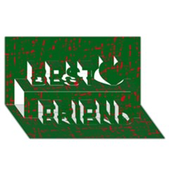 Green and red pattern Best Friends 3D Greeting Card (8x4)