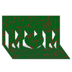 Green and red pattern MOM 3D Greeting Card (8x4)