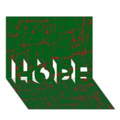 Green and red pattern HOPE 3D Greeting Card (7x5)