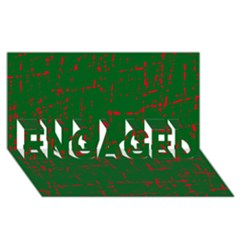Green And Red Pattern Engaged 3d Greeting Card (8x4)