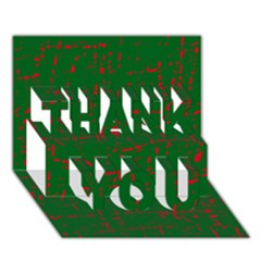 Green and red pattern THANK YOU 3D Greeting Card (7x5)