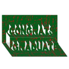 Green and red pattern Congrats Graduate 3D Greeting Card (8x4)