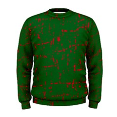 Green and red pattern Men s Sweatshirt