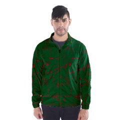 Green and red pattern Wind Breaker (Men)