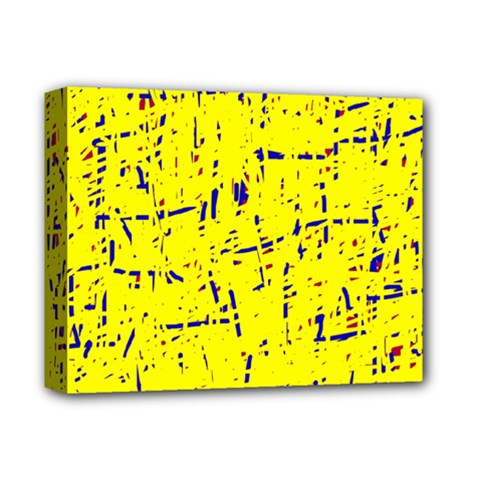 Yellow summer pattern Deluxe Canvas 14  x 11