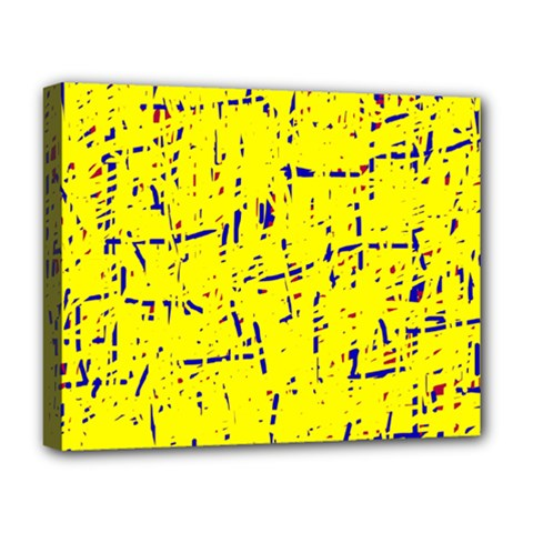 Yellow summer pattern Deluxe Canvas 20  x 16