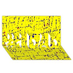 Yellow summer pattern #1 DAD 3D Greeting Card (8x4)