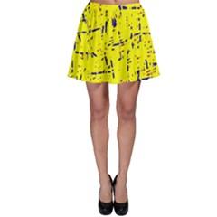 Yellow summer pattern Skater Skirt