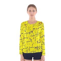Yellow summer pattern Women s Long Sleeve Tee