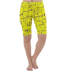 Yellow summer pattern Cropped Leggings